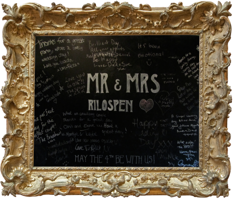 The wedding message blackboard